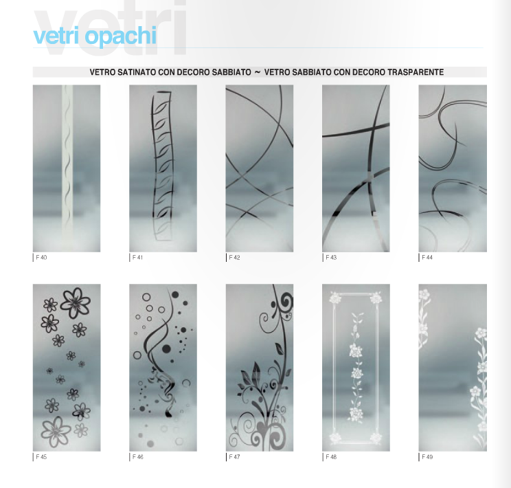 linea vetri franzese « - Porte In Vetro Decorate Moderne